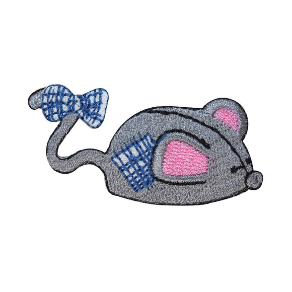 ID 2952 Mouse Cat Toy Patch Stuffed Play Stitched Embroidered Iron On Applique
