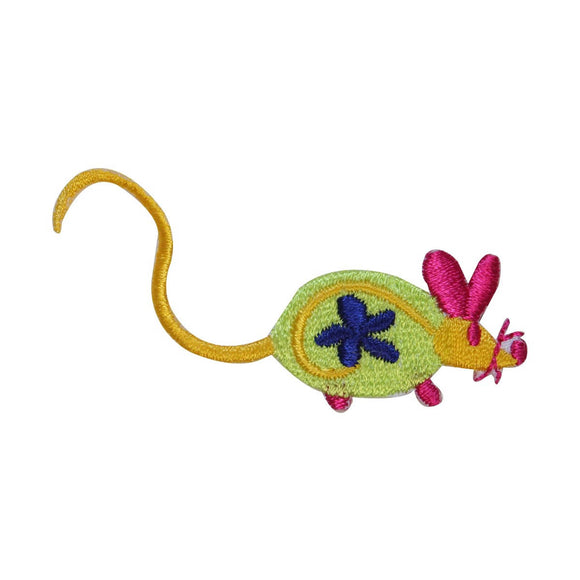 ID 2962 Colorful Toy Mouse Patch Kitten Cat Play Embroidered Iron On Applique