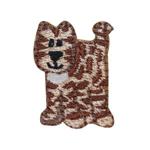 ID 3049 Lot of 3 Striped Cat Patch Kitten Kitty Embroidered Iron On Applique