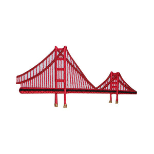 ID 3070 Golden Gate Bridge Patch California Travel Embroidered Iron On Applique
