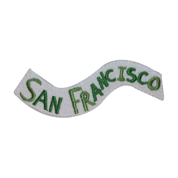 ID 3071 San Francisco Flag Patch Travel Banner Sign Embroidered Iron On Applique