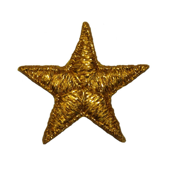 ID 3470 Shiny Gold Star Patch Night Sky Craft Emblem Embroidered IronOn Applique
