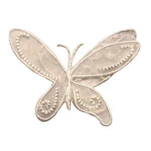 ID 2114 Lace Butterfly With 3D Wings Patch Fairy Embroidered Iron On Applique