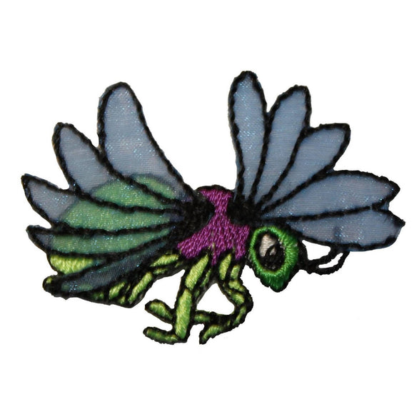ID 2132 Flying Bug Patch Garden Insect Lace Wing Embroidered Iron On Applique