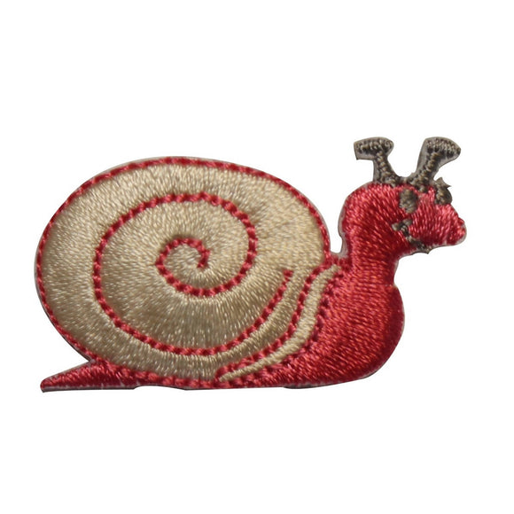 ID 2204 Happy Garden Snail Patch Shell Cute Slime Embroidered Iron On Applique