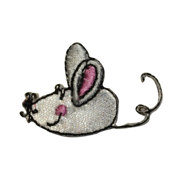 ID 3579 Cartoon Toy Mouse Patch Play Cat Rodent Rat Embroidered Iron On Applique