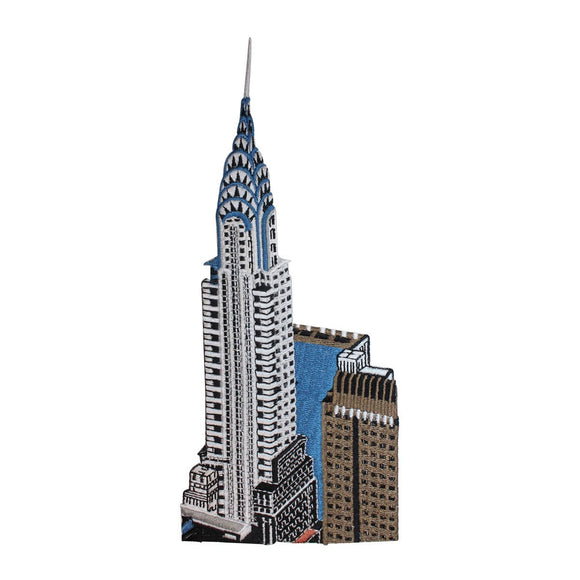 ID 5051 Chrysler Building Large Patch City Travel Embroidered Iron On Applique