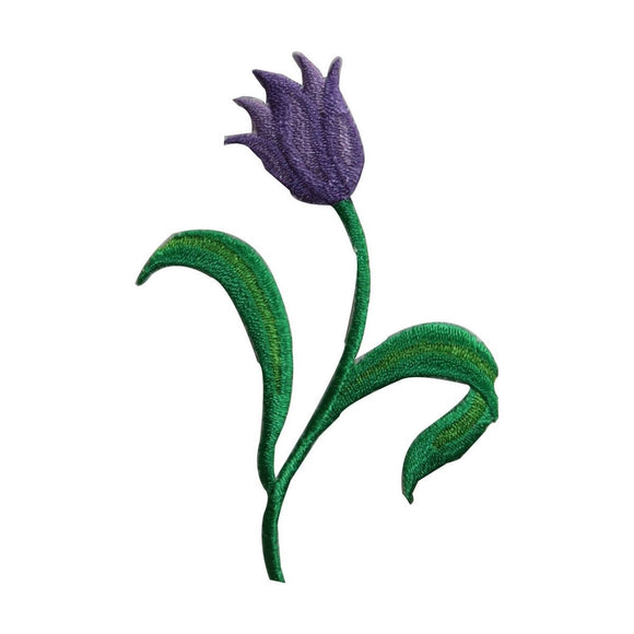 ID 6446 Purple Tulip Flower Patch Garden Plant Bloom Embroidered IronOn Applique