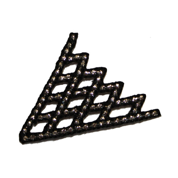 ID 2341 Lattice Craft Patch Design Emblem Roofing Embroidered Iron On Applique