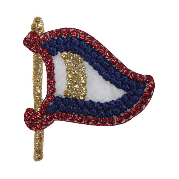 ID 2689 Sheer Nautical Flag Patch Boat Ship Marine Embroidered Iron On Applique