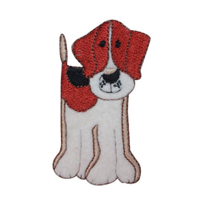 ID 2814 Fluffy Mutt Dog Patch Family Pet Puppy Embroidered Iron On Applique