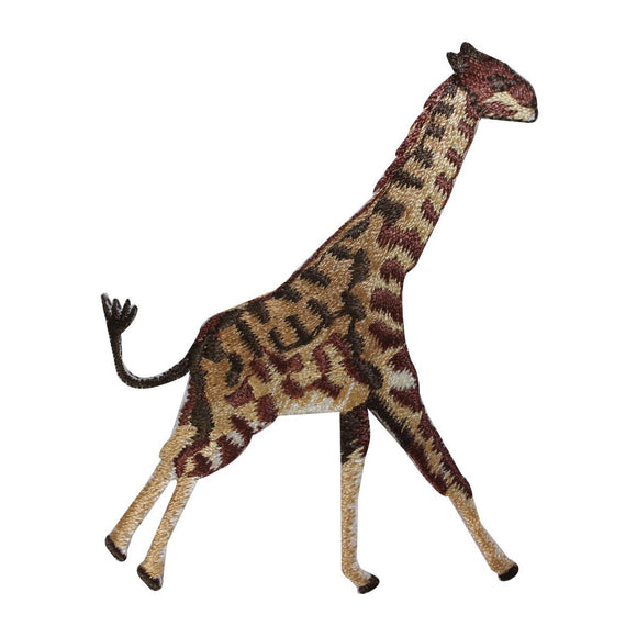 ID 2370 Giraffe Running Patch African Safari Wild Embroidered Iron On Applique