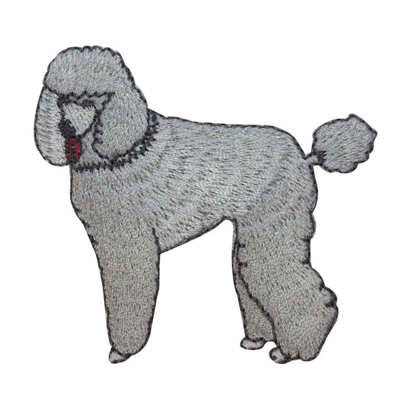 ID 2728 Poodle Dog Patch Puppy Breed Fancy Show Embroidered Iron On Applique
