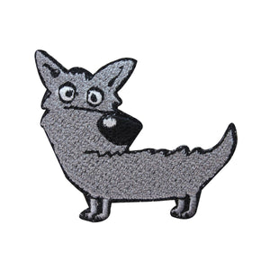 ID 2835A Cartoon Dog Patch Canine Stray Pet Embroidered Iron On Applique