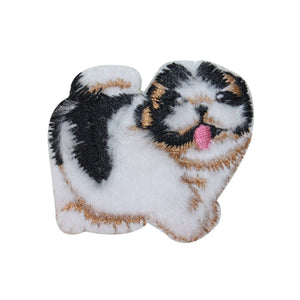 ID 2842A Fluffy Puppy Patch Cute Fuzzy Dog Embroidered Iron On Applique