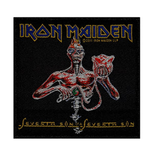 Iron Maiden Seventh Son Patch Album Art Heavy Metal Band Woven Sew On Applique