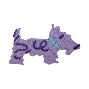 ID 2843B Scottish Terrier Patch Cute Dog Craft Embroidered Iron On Applique