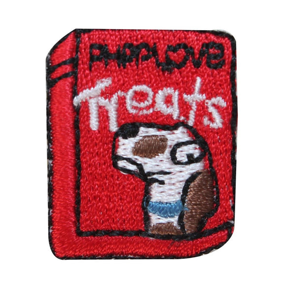 ID 2859 Lot of 3 Dog Treat Box Patch Food Puppy Pet Embroidered Iron On Applique