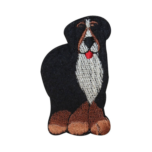 ID 2862B Fluffy St. Bernard Dog Patch Furry Pet Embroidered Iron On Applique