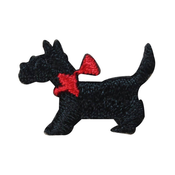 ID 2863 Lot of 3 Tiny Scottish Terrier Patches Dog Embroidered Iron On Applique