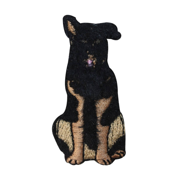 ID 2865D Fluffy German Shepherd Patch Fuzzy Dog Pet Embroidered Iron On Applique