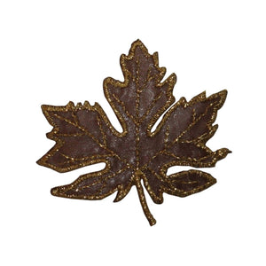 ID 7173 Lace Maple Tree Leaf Patch Autumn Fall Craft Embroidered IronOn Applique