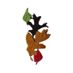 ID 7227 Fall Leaves Craft Patch Nature Autumn Tree Embroidered Iron On Applique