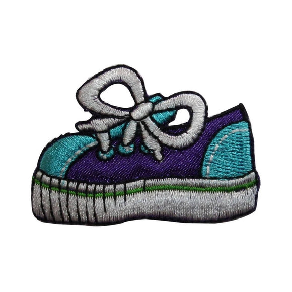 ID 7417 Children Sneaker Patch Running Shoe Tennis Embroidered Iron On Applique