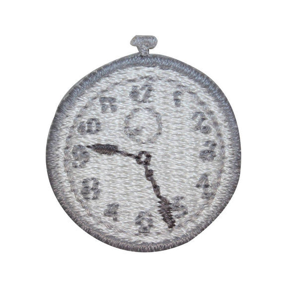 ID 3211B Pocket Watch Patch Old Wind Up Time Watch Embroidered Iron On Applique