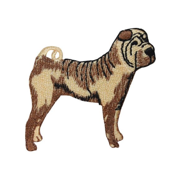 ID 2800 Shar Pei Dog Patch Saggy Skin Puppy Breed Embroidered Iron On Applique