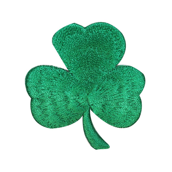 ID 3305 Three Leaf Clover Patch ST Patrick's Day Embroidered Iron On Applique