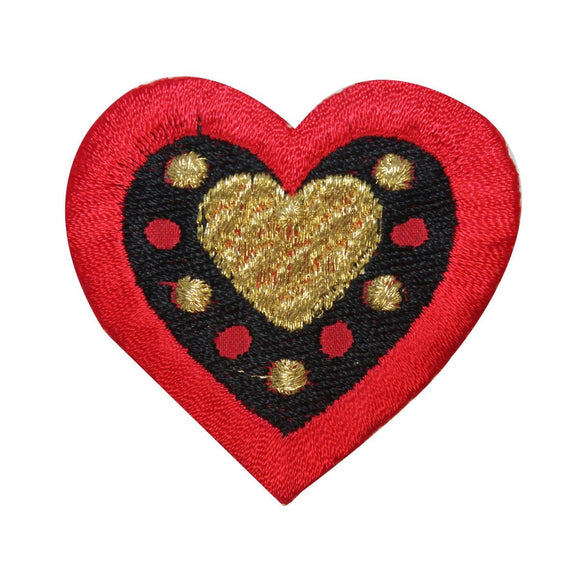ID 3256B Box of Chocolates Heart Patch Valentine Day Embroidered IronOn Applique