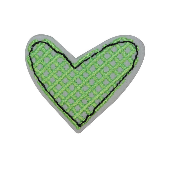 ID 3263B Stitched Heart Patch Valentine Day Love Embroidered Iron On Applique
