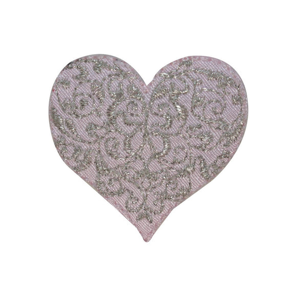 ID 3272A Fancy Heart Patch Valentines Day Love Embroidered Iron On Applique