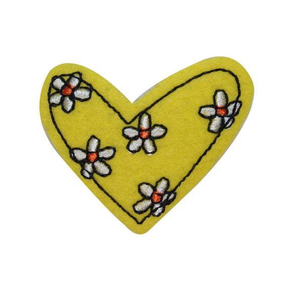 ID 3275A Daisy Flower Patch Valentines Day Sun Love Embroidered Iron On Applique