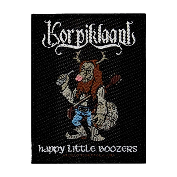 Korpiklaani Happy Little Boozers Patch Folk Metal Music Woven Sew On Applique