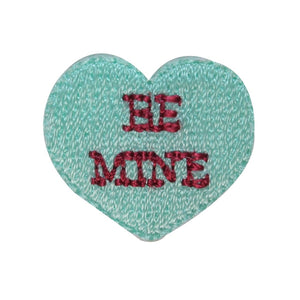 ID 3298B Be Mine Valentine Candy Patch Love Sweet Embroidered Iron On Applique