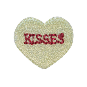 ID 3298D Kisses Valentine Candy Patch Love Sweet Embroidered Iron On Applique