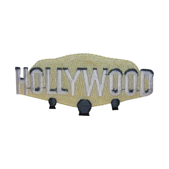 ID 3066 Hollywood Sign Patch Travel Badge Emblem Embroidered Iron On Applique