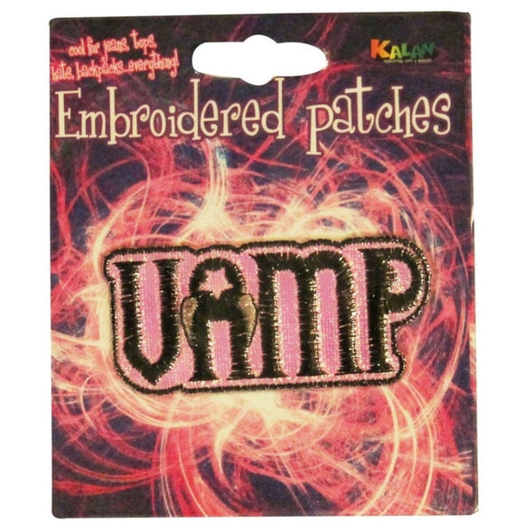 Vamp Name Tag Patch Vampire Badge Goth Symbol Sign Embroidered Iron On Applique