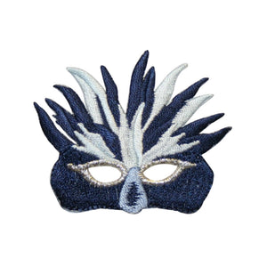 ID 3402 Mardi Gras Mask Patch Disguise Dance Ball Embroidered Iron On Applique