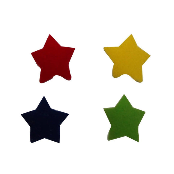 ID 3455A-D Set of 4 Colorful Star Patch Night Sky Craft Felt Iron On Applique