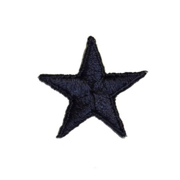 ID 3468F Navy Star Patch Night Sky Craft Symbol Embroidered Iron On Applique