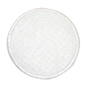 ID 8843 White Lace Circle Patch Sheer Cover Ball Embroidered Iron On Applique