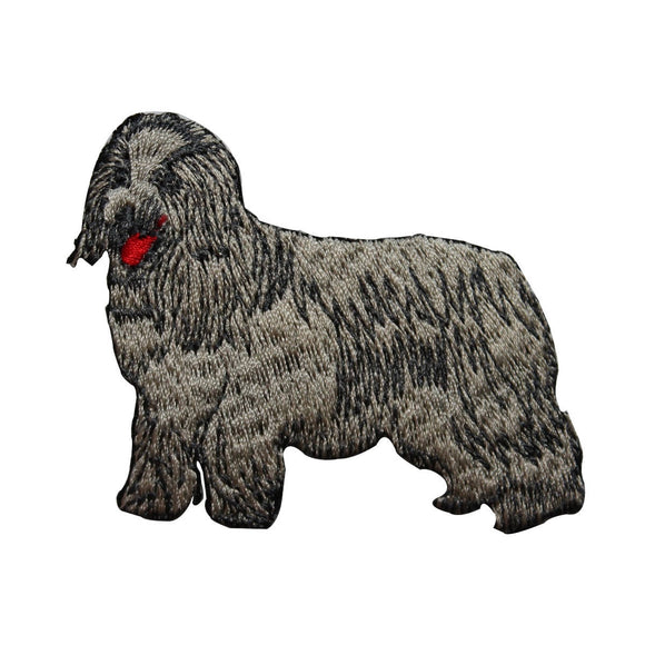 ID 3615 Shaggy Sheepdog Patch Dog Pet Herding Puppy Embroidered Iron On Applique