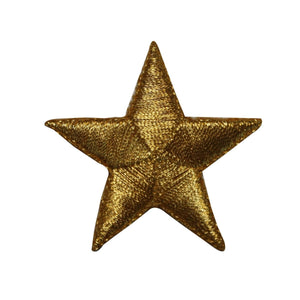 ID 3539 Gold Star Patch Shinning Night Sky Craft Embroidered Iron On Applique