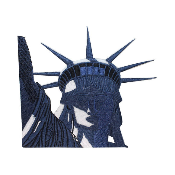 ID 5050 Statue of Liberty Large Patch New York Face Embroidered IronOn Applique
