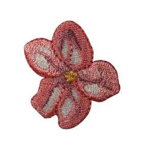 ID 6256 Pink Hibiscus Flower Head Patch Hawaii Bloom Embroidered IronOn Applique