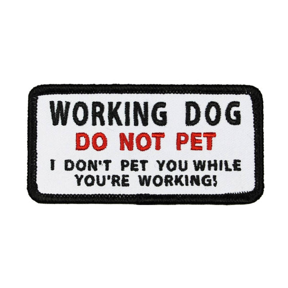 Working Dog Do Not Pet Patch Service Animal Badge Embroidered Iron On Applique