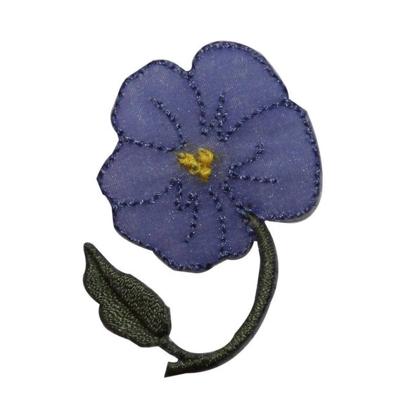 ID 6478 Purple Hibiscus Flower Patch Hawaiian Exotic Embroidered IronOn Applique